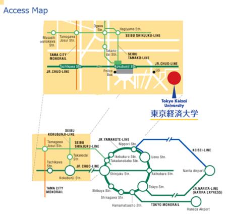 Access Map to Tokyo Keizai University